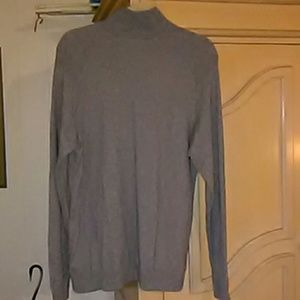 The North Face Sweaters - The North Face Men's Front Zip Gray Sweater SZ-L